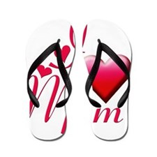 I Love Mom copy Flip Flops