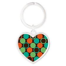 polka dots Heart Keychain