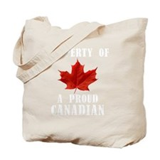 A Proud Canadian Tote Bag
