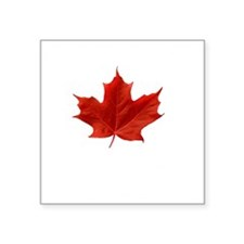 "A Proud Canadian Square Sticker 3"" x 3"""