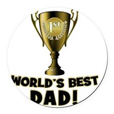 WorldsBestDad copy Round Car Magnet