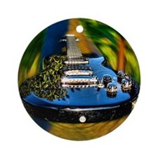 Rocked Out Guitar Round Ornament