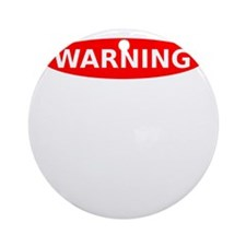 May Contain Gin Warning Round Ornament