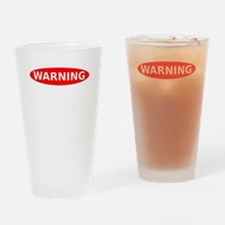 May Contain Whiskey Warning Drinking Glass