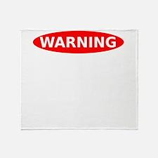 May Contain Gin Warning Throw Blanket