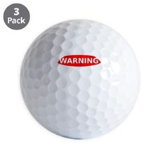 May Contain Wine Warning Golf Ball