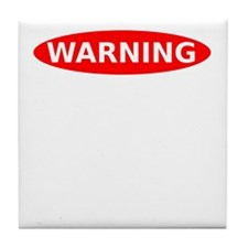 May Contain Wine Warning Tile Coaster