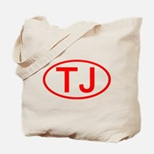 TJ Oval (Red) Tote Bag