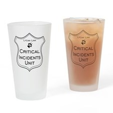 Critical Incidents badge Drinking Glass