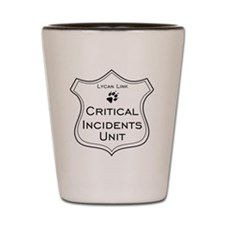 Critical Incidents badge Shot Glass