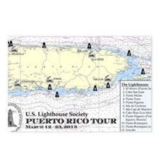 Puerto Rico Lighthouse To Postcards (Package of 8)