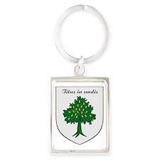 Wood Family Shield Portrait Keychain