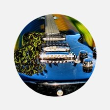 """Rocked Out Guitar 3.5"""" Button"""