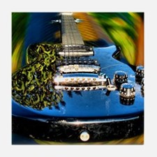 Rocked Out Guitar Tile Coaster