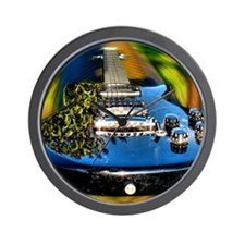 Rocked Out Guitar Wall Clock