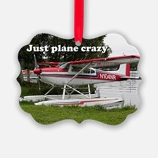 Just plane crazy: Cessna float pl Ornament