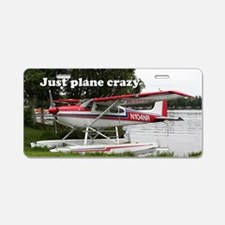 Just plane crazy: Cessna fl Aluminum License Plate