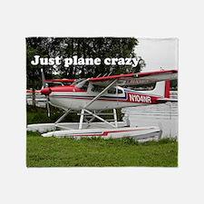 Just plane crazy: Cessna float plane Throw Blanket