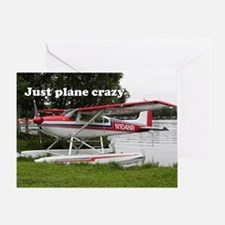 Just plane crazy: Cessna float plane Greeting Card