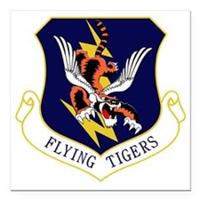 "23rd FW Flying Tigers Square Car Magnet 3"" x 3"""