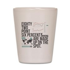 EIGHTY TWO POINT SIX PERCENT OF STATIST Shot Glass