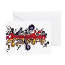 Graffiti Art Imagination Greeting Card