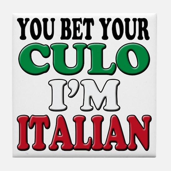 Italian Saying Tile Coaster