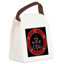 Coven Red Magick Sigil Canvas Lunch Bag