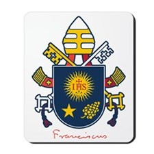 Pope Francis coat of Arms Mousepad