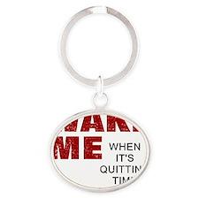 Wake Me Oval Keychain