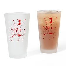 Zombie Killing Shirt Drinking Glass