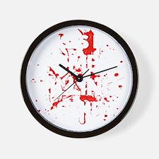 Zombie Killing Shirt Wall Clock