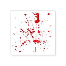 "Zombie Killing Shirt Square Sticker 3"" x 3"""