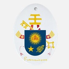 Pope Francis coat of Arms Oval Ornament