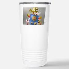 Pope Francis coat of Ar Travel Mug