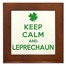 Keep Calm and Leprechaun Framed Tile
