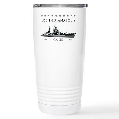 USS Indianapolis Battle Stainless Steel Travel Mug