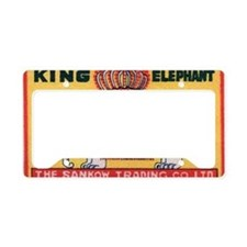 Antique King Elephant India M License Plate Holder