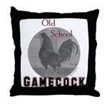Old school gamecock Throw Pillow