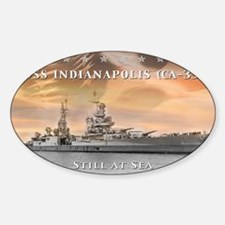 USS Indianapolis Battle Flag Decal