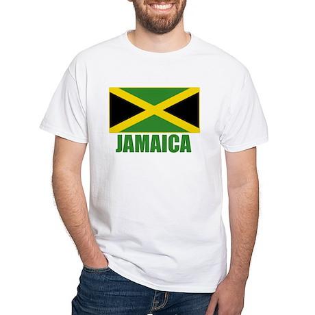 Jamaica Flag White T-Shirt