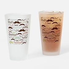 Mustache Pattern Drinking Glass