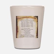 Pope Francis St. Francis SIMPLE PRAYER- Shot Glass