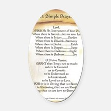 Pope Francis St. Francis SIMPLE PR Oval Car Magnet