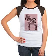 Pink Zebra Women's Cap Sleeve T-Shirt