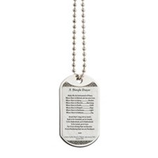Pope Francis St. Francis SIMPLE PRAYER-Pa Dog Tags