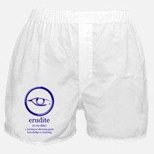 erudite logo and definition Boxer Shorts