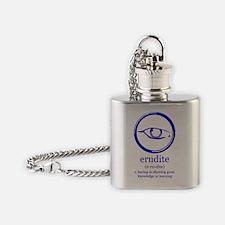 erudite logo and definition Flask Necklace
