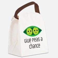 give peas a chance Canvas Lunch Bag