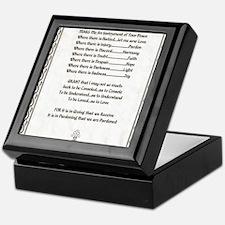 Pope Francis St. Francis SIMPLE PRAYE Keepsake Box